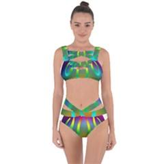 Colorful Easter Egg Bandaged Up Bikini Set