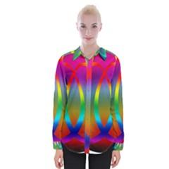 Colorful Easter Egg Womens Long Sleeve Shirt