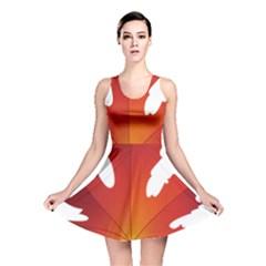 Autumn Maple Leaf Clip Art Reversible Skater Dress