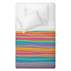 Colorful Horizontal Lines Background Duvet Cover (single Size)
