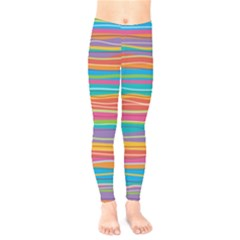 Colorful Horizontal Lines Background Kids  Legging