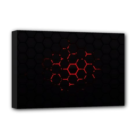 Abstract Pattern Honeycomb Deluxe Canvas 18  X 12