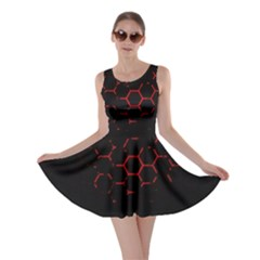 Abstract Pattern Honeycomb Skater Dress
