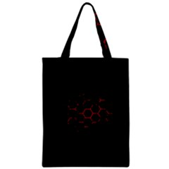 Abstract Pattern Honeycomb Zipper Classic Tote Bag