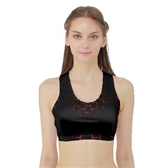 Abstract Pattern Honeycomb Sports Bra With Border