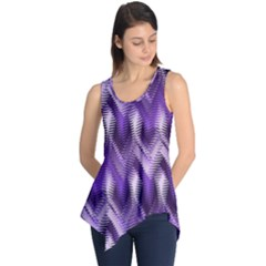 Purple Wavy Sleeveless Tunic