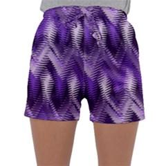 Purple Wavy Sleepwear Shorts