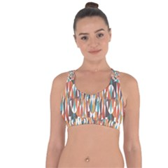 Colorful Geometric Abstract Cross String Back Sports Bra