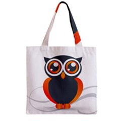 Owl Logo Grocery Tote Bag