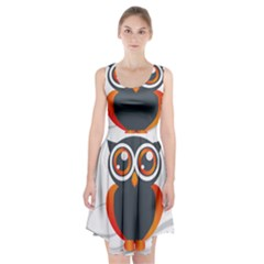 Owl Logo Racerback Midi Dress