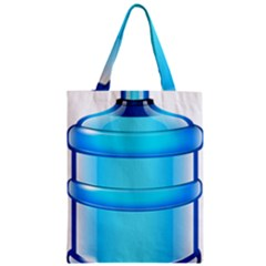 Large Water Bottle Zipper Classic Tote Bag
