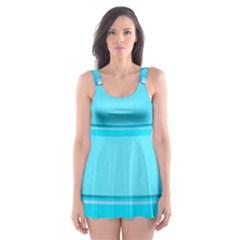 Large Water Bottle Skater Dress Swimsuit
