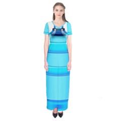 Large Water Bottle Short Sleeve Maxi Dress