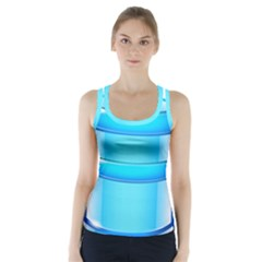 Large Water Bottle Racer Back Sports Top