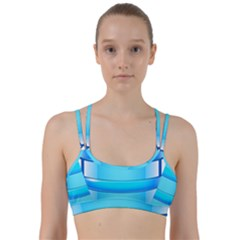 Large Water Bottle Line Them Up Sports Bra