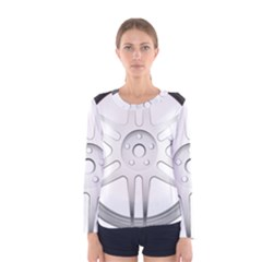 Wheel Skin Cover Women s Long Sleeve Tee
