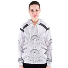 Wheel Skin Cover Women s Zipper Hoodie