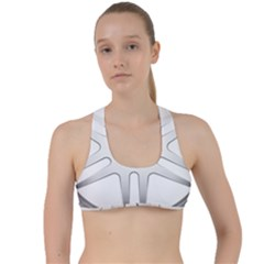 Wheel Skin Cover Criss Cross Racerback Sports Bra