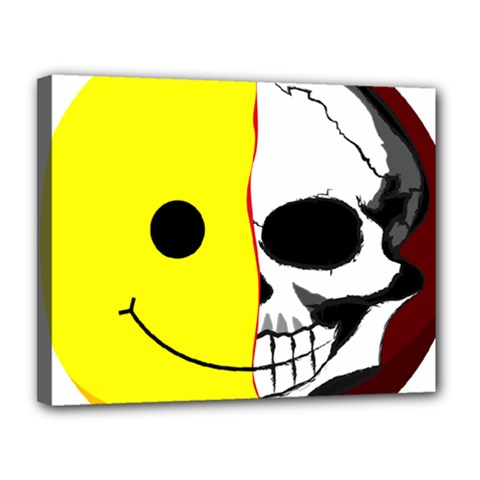 Skull Behind Your Smile Canvas 14  X 11