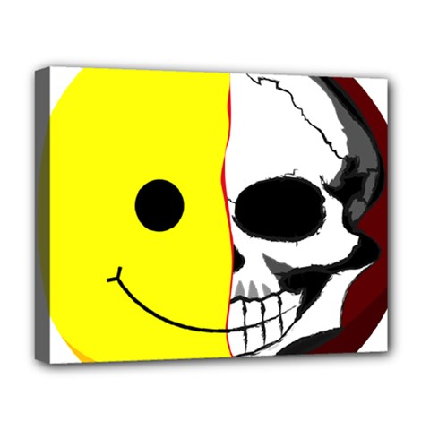 Skull Behind Your Smile Deluxe Canvas 20  X 16