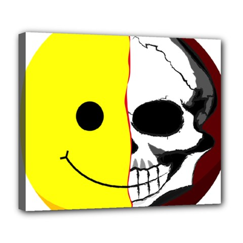 Skull Behind Your Smile Deluxe Canvas 24  X 20