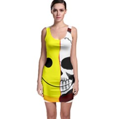 Skull Behind Your Smile Bodycon Dress