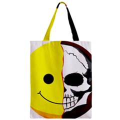 Skull Behind Your Smile Zipper Classic Tote Bag