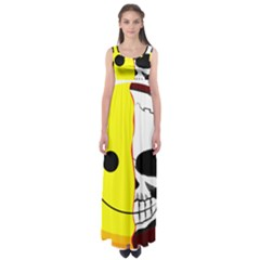 Skull Behind Your Smile Empire Waist Maxi Dress