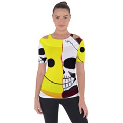 Skull Behind Your Smile Short Sleeve Top