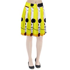 Skull Behind Your Smile Pleated Skirt