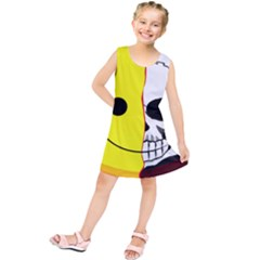 Skull Behind Your Smile Kids  Tunic Dress