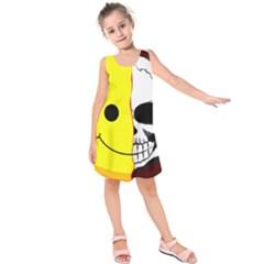 Skull Behind Your Smile Kids  Sleeveless Dress