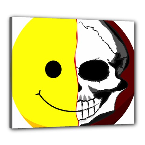 Skull Behind Your Smile Canvas 24  X 20