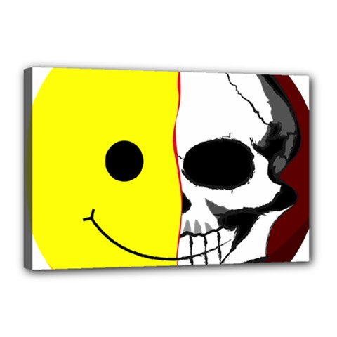 Skull Behind Your Smile Canvas 18  X 12