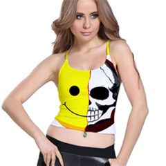 Skull Behind Your Smile Spaghetti Strap Bra Top