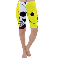 Skull Behind Your Smile Cropped Leggings