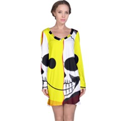 Skull Behind Your Smile Long Sleeve Nightdress