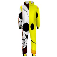 Skull Behind Your Smile Hooded Jumpsuit (men)