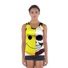 Skull Behind Your Smile Sport Tank Top