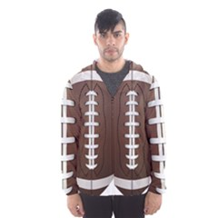 Football Ball Hooded Wind Breaker (men)