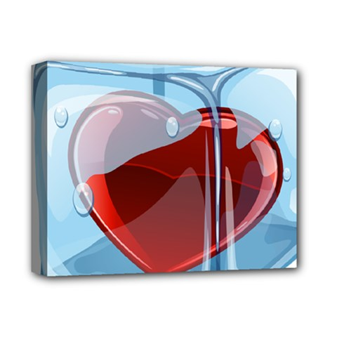 Heart In Ice Cube Deluxe Canvas 14  X 11
