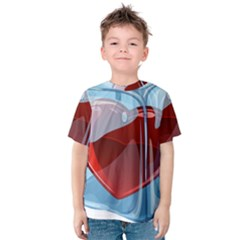 Heart In Ice Cube Kids  Cotton Tee