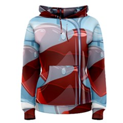 Heart In Ice Cube Women s Pullover Hoodie