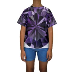 Amethyst Kids  Short Sleeve Swimwear