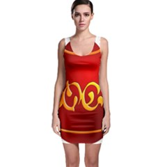 Easter Decorative Red Egg Bodycon Dress