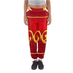 Easter Decorative Red Egg Women s Jogger Sweatpants