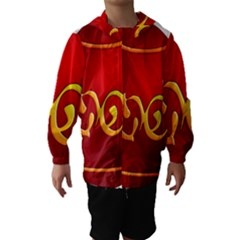 Easter Decorative Red Egg Hooded Wind Breaker (kids)