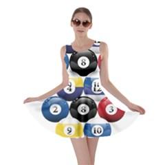 Racked Billiard Pool Balls Skater Dress