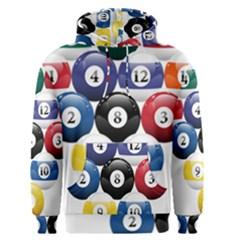 Racked Billiard Pool Balls Men s Pullover Hoodie