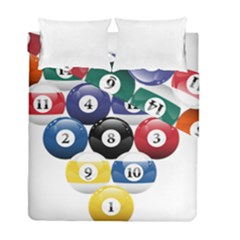 Racked Billiard Pool Balls Duvet Cover Double Side (full/ Double Size)